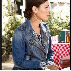 The premium wash Zara trafaluc jeans jacket